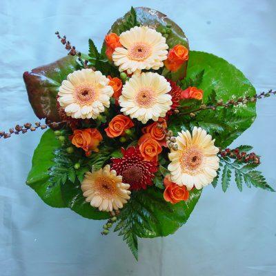 Minigerberaa ja ruusuja